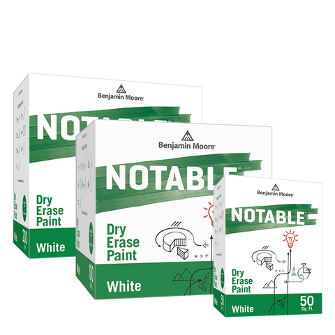 Benjamin Moore Notable White in 200 sq. ft, 100 sq. ft and 50 sq. ft, available at Ricciardi Brothers in NJ, PA and DE.