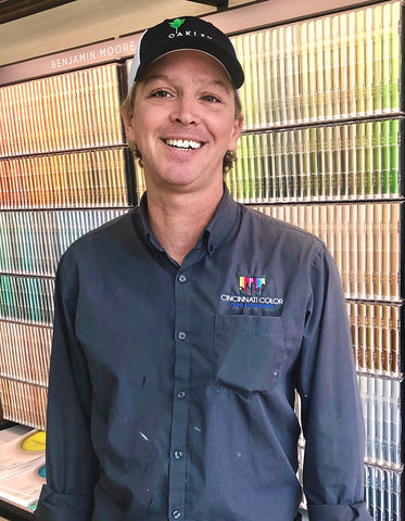 Dan Heier, store manager of Cincinnati Color Company's Oakley Paint and Glass location.