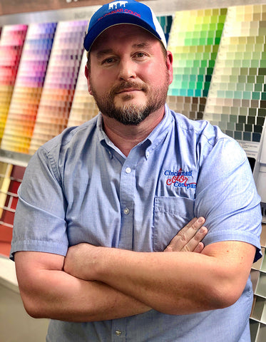 Chris Lindsey, Store Manager at Cincinnati Color Company.