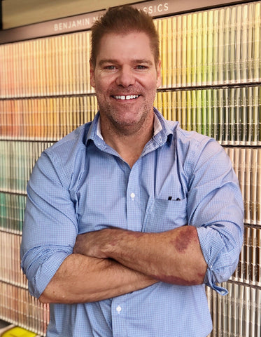 Greg Deifel, Vice President of New Business Development at Cincinnati Color Company's Oakley Paint and Glass location.