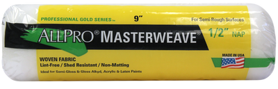 "Allpro masterwave 9""x3/8"" rollers, available at Cincinnati Color Company in Ohio."