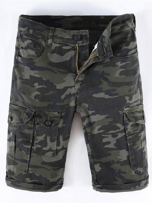Slim Camo Pocket Men's Casual Shorts