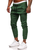 Loose Strappy Solid Color Men's Casual Pants