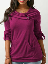 Solid Color Long Sleeve Cotton Hoodie