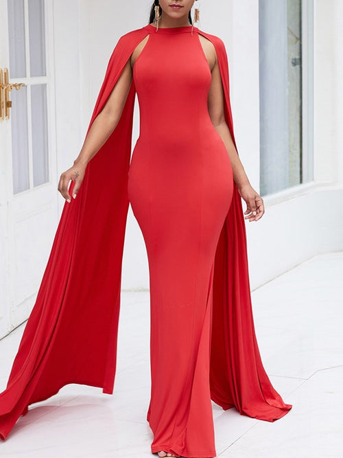 Floor-Length Long Sleeve Party/Cocktail Pullover Dress