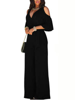 Plain Full Length Mid Waist Slim Jumpsuit