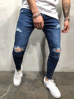 Zipper Straight Plain Casual Mid Waist Jeans