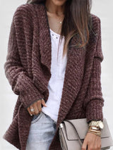 Wrapped Regular Mid-Length Long Sleeve Sweater