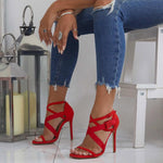 Open Toe Buckle Heel Covering Stiletto Heel Casual Buckle Sandals