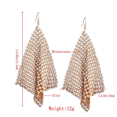 Alloy Plain Diamante Anniversary Earrings