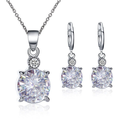 Diamante Plain Korean Birthday Jewelry Sets