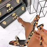 Ankle Strap Open Toe Buckle Stiletto Heel Hollow Low-Cut Upper Sandals