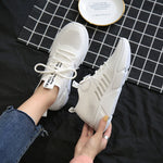Lace-Up Low-Cut Upper Round Toe Lace-Up Mesh Casual Sneakers