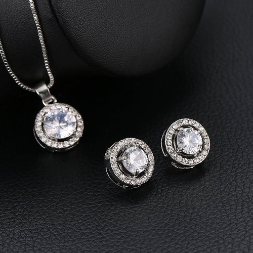 Plain Korean Necklace Gift Jewelry Sets