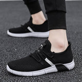 Lace-Up Low-Cut Upper Mesh Round Toe Sneakers