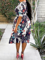 Print Mid-Calf Short Sleeve Date Night/Going Out A-Line Dress
