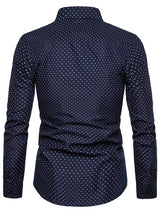 Button Casual Polka Dots Single-Breasted Spring Shirt