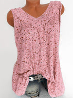 Polyester Print Mid-Length Tank Top