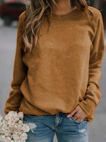 Standard Long Sleeve Plain Loose Spring T-Shirt