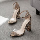 Chunky Heel Heel Covering Buckle Open Toe Casual Casual Sandals