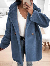 Loose Lapel Mid-Length Overcoat