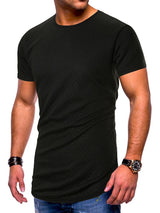 Round Neck Plain Casual Slim Short Sleeve T-shirt