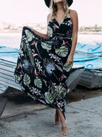 Floor-Length Sleeveless Print Summer Pullover Dress