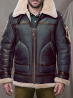 Lapel Color Block Standard Slim Winter Leather Jacket