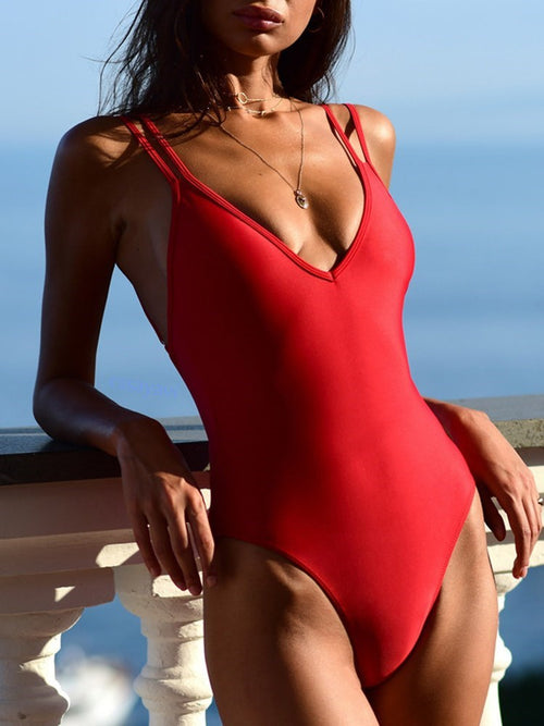 Sexy Print One Piece Swimwear
