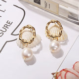 European E-Plating Alloy Anniversary Earrings