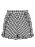 Plaid Patchwork High Waist Skinny Shorts