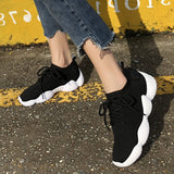 Lace-Up Low-Cut Upper Round Toe Plain Casual Sneakers