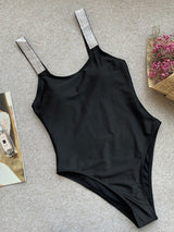 One Piece Plain Beach Look Swimwear