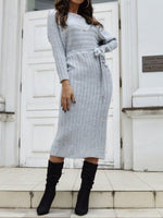 Mid-Calf Long Sleeve Casual Regular Dress