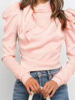 Plain Standard Long Sleeve Blouse