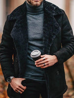 Mid-Length Plain Casual A Line Coat