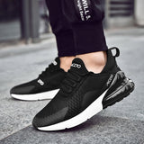 Low-Cut Upper Lace-Up Round Toe Mesh Sneakers