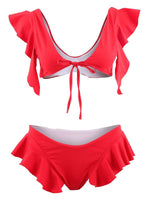 Beach Look Tankini Set Plain Swimwear