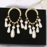 Alloy Plain E-Plating Prom Earrings