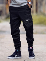 Print Straight Letter Mid Waist Zipper Casual Pants