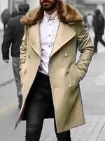 Plain Pocket Long Straight Winter Coat