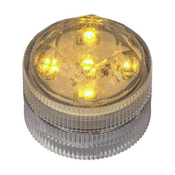 Amber Five LED Submersible Top View In Light