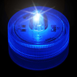 Blue One LED Submersible Top View