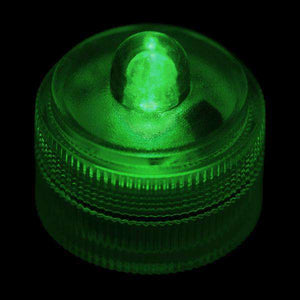 Green Remote Controlled One LED Submersible Top View