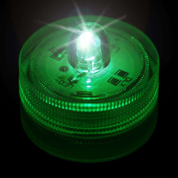 Green One LED Submersible Top View