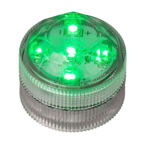 Green Five LED Submersible Top View In Light