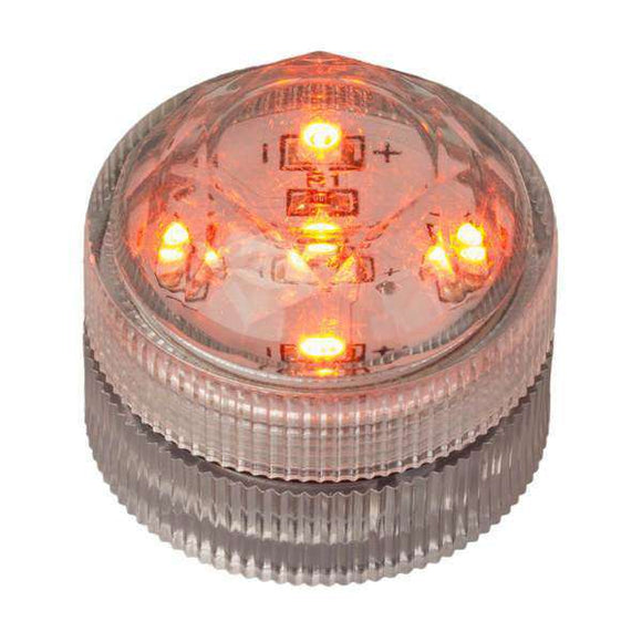 Orange Five LED Submersible Top View In Light