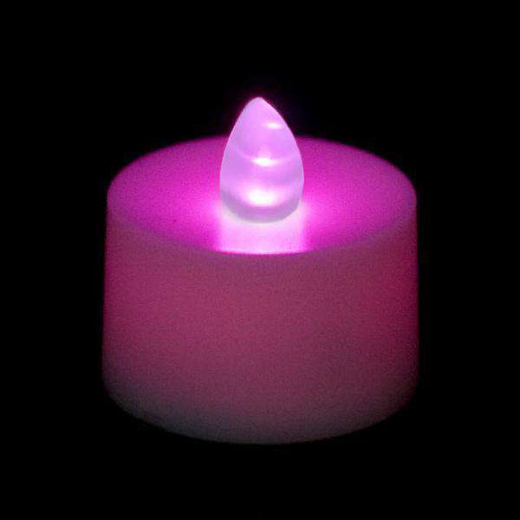 Purple LED Tea Light, Available in Flicker/ Non-Flicker - Pack of 12 - IntelliWick