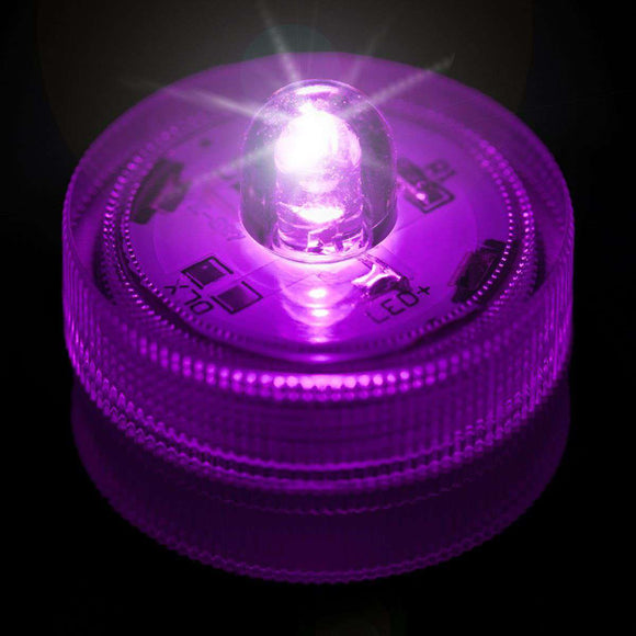 Purple One LED Submersible Top View