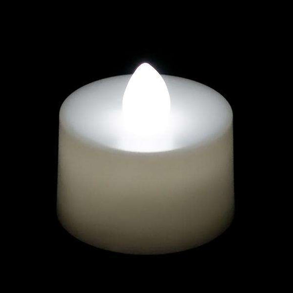 White LED Tea Light, Available in Flicker/ Non-Flicker - Pack of 12 - IntelliWick